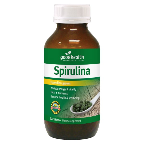 Good Health Spirulina 500 Tablets