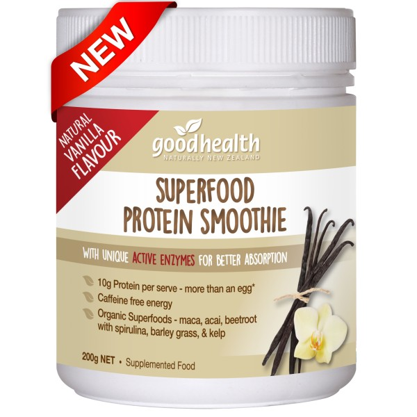 Good Health Superfood Protein Smoothie Vanilla Powder 200g