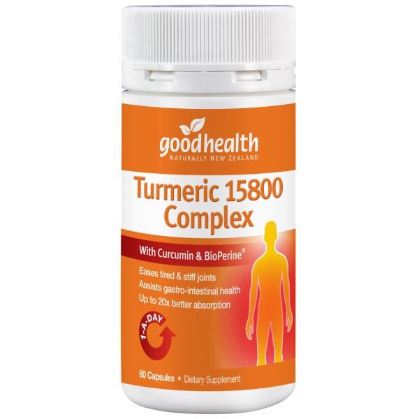 Good Health Turmeric 15800 Complex 60 Capsules