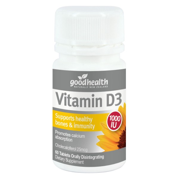 Good Health Vitamin D3 Micro-lingual 60 Tablets