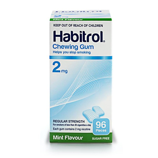 Habitrol Chewing Gum 2mg Mint Flavour 96s