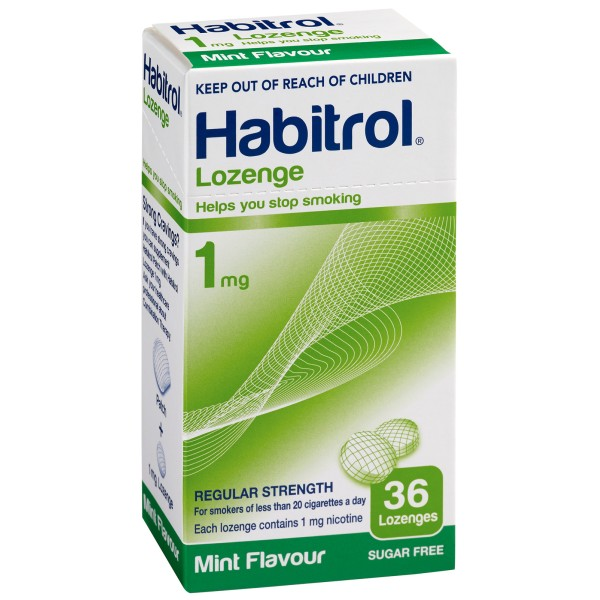 Habitrol Lozenges 1mg Mint Flavour 36s