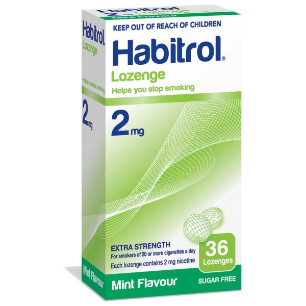 Habitrol Lozenges 2mg Mint Flavour 36s
