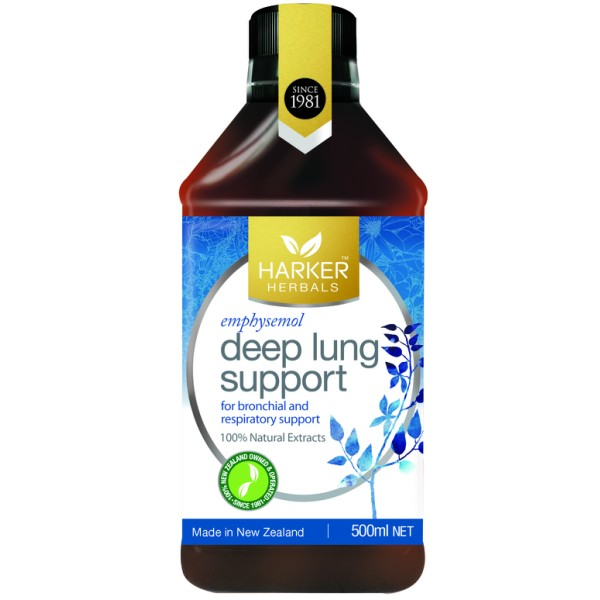 Harker Herbals Deep Lung Support Emphysemol 500ml