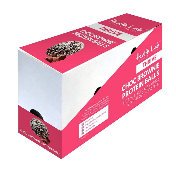 Health Lab Chocolate Brownie Protein Ball 40g Box Of 12