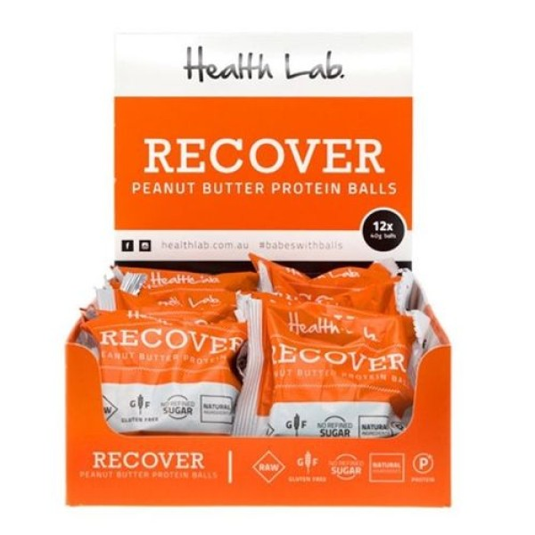 Health Lab Recover Peanut Butter Protein Ball 40g Box Of 12