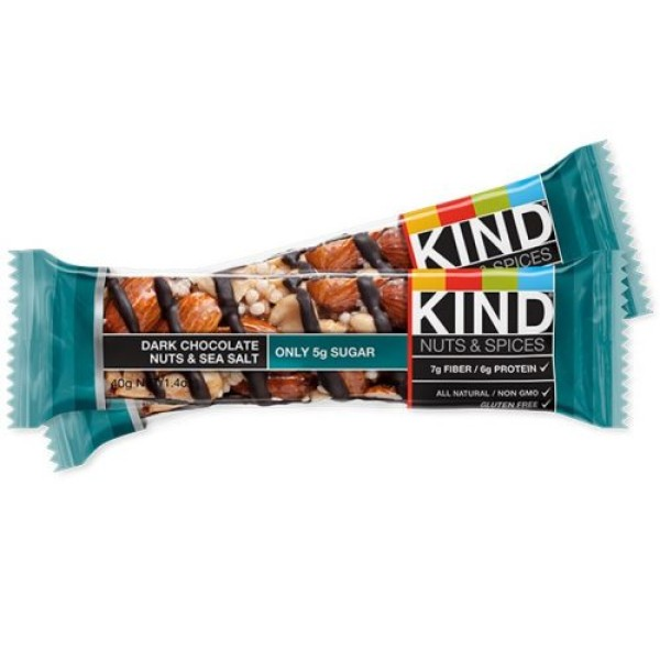 Kind Nut Bars Dark Chocolate Nuts & Sea Salt 40g