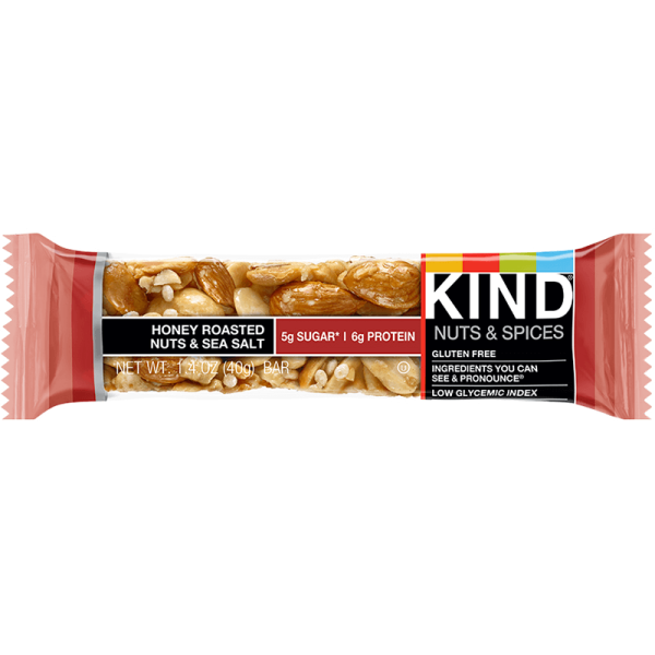 Kind Nut Bars Honey Roasted Nuts & Sea Salt 40g