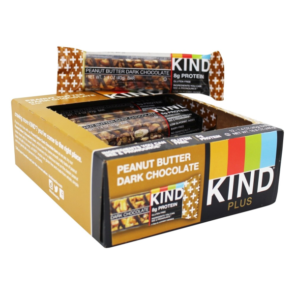 Kind Nut Bars Peanut Butter Dark Chocolate 40g Box Of 12