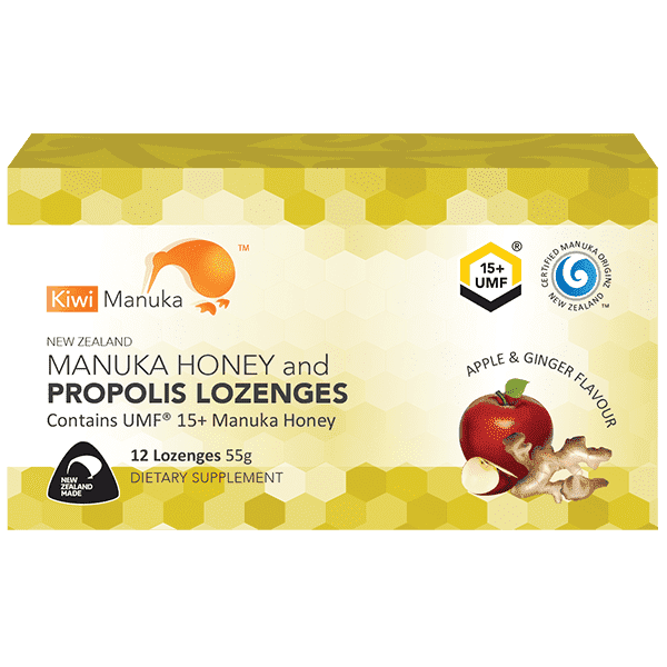 Kiwi Manuka Manuka Honey UMF 15+ 12 Lozenges Apple