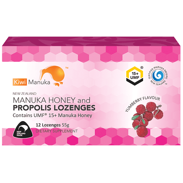 Kiwi Manuka Manuka Honey UMF 15+ 12 Lozenges Yumberry