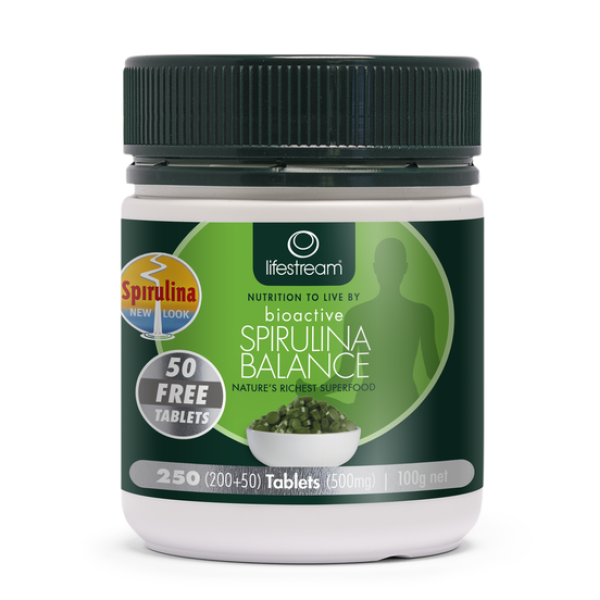 LifeStream Bioactive Spirulina Balance 200+50 Tablets