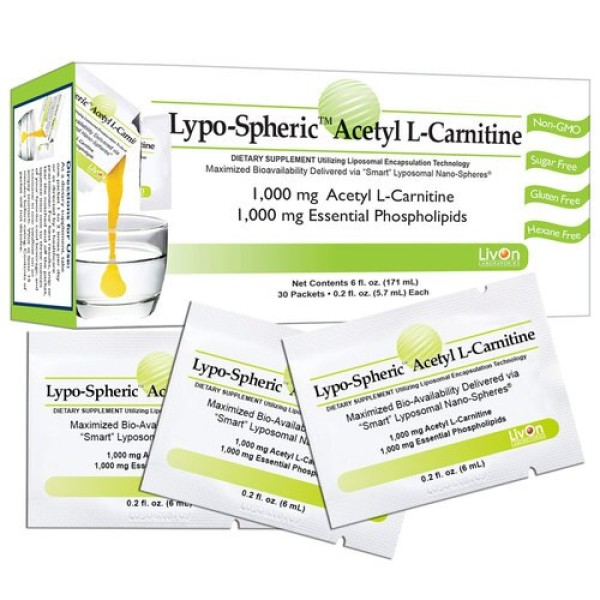 Livon Labs Lypo-Spheric Acetyl L-Carnitine 30 Pack 5.7ml Each