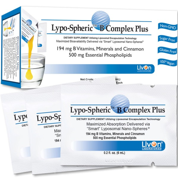 Livon Labs Lypo-Spheric B Complex Plus 30 Pack 6ml Each