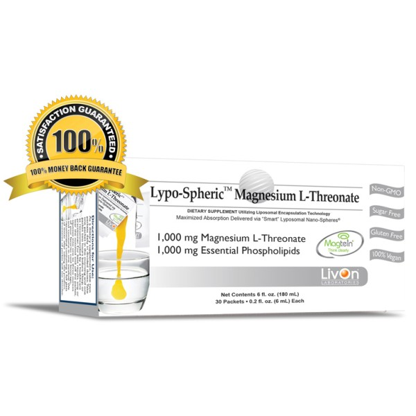 Livon Labs Lypo-Spheric Magnesium L-Threonate 30 Pack 6ml Each