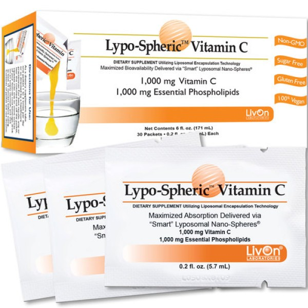 LivOn Labs Lypo-Spheric Vitamin C 30 Pack 5.7ml Each