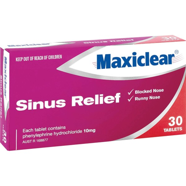 Maxiclear Sinus Relief 30 Tablets