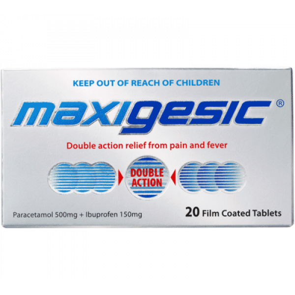 Maxigesic Double Action Pain Relief Tablets 20s