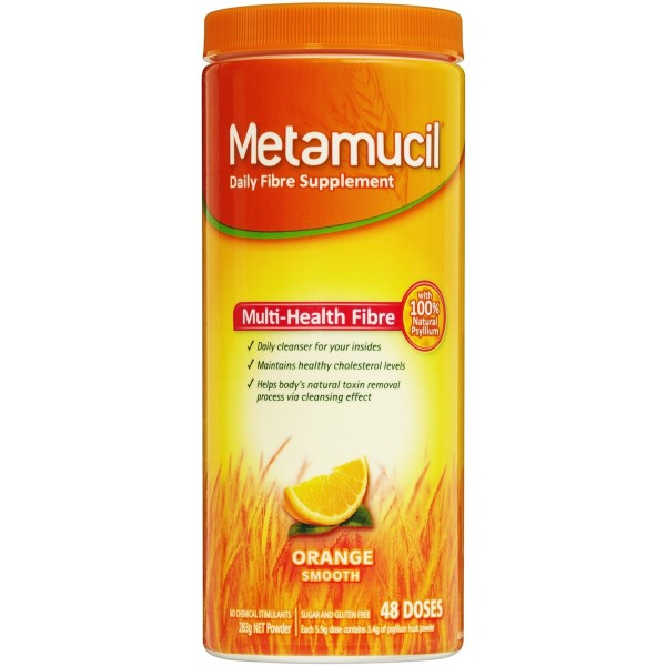 Metamucil Psyllium Orange Powder 48 Doses