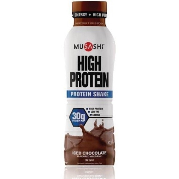 Musashi High Protein Shake Drink Iced-Chocolate 375ml