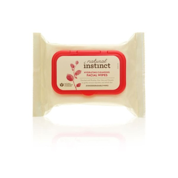 Natural Instinct Hydrating Cleansing Facial Wipes 25s