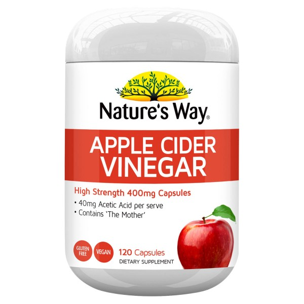 Nature's Way Apple Cider Vinegar Hi Strength 400mg 120 Capsules