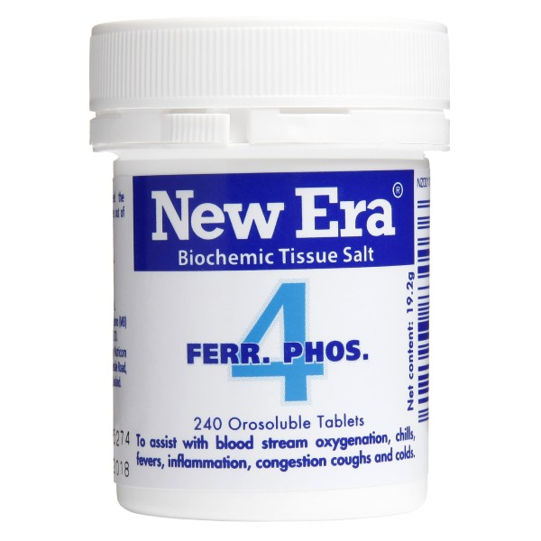 New Era Tissue Salt No.4 Ferr. Phos. 240 Tablets