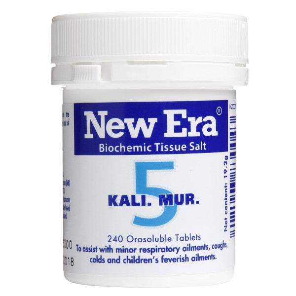 New Era Tissue Salt No.5 Kali. Mur. 240 Tablets