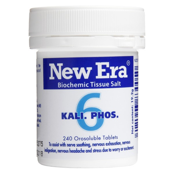 New Era Tissue Salt No.6 Kali. Phos. 240 Tablets