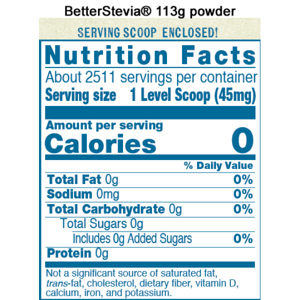 Now Foods BetterStevia® Extract Powder Organic 113g