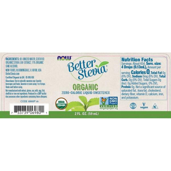 Now Foods BetterStevia Liquid Sweeteners Organic 59ml