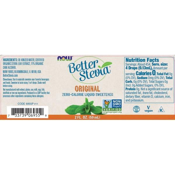 Now Foods BetterStevia Liquid Sweeteners Original 59ml