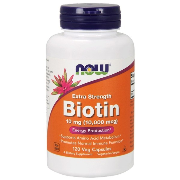 Now Foods Biotin Extra Strength 10mg 120 Capsules