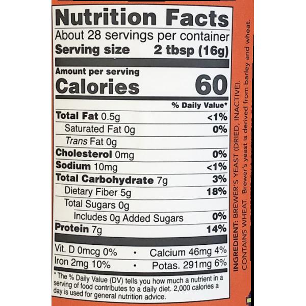 Now Foods Brewer's Yeast Debittered 454g