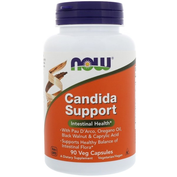 Now Foods Candida Support Intestinal Health 90 Capsules