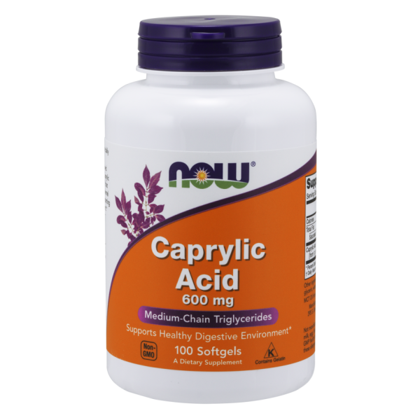 Now Foods Caprylic Acid 600mg 100 Softgels