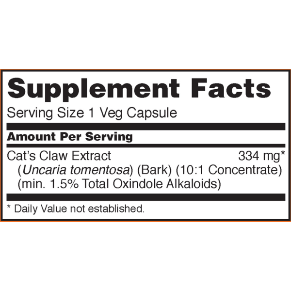 Now Foods Cat's Claw Extract 60 Capsules