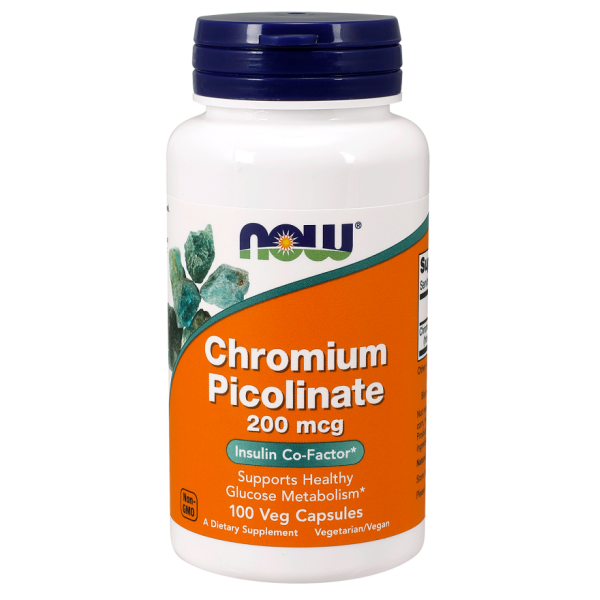 Now Foods Chromium Picolinate 200mcg 100 Capsules