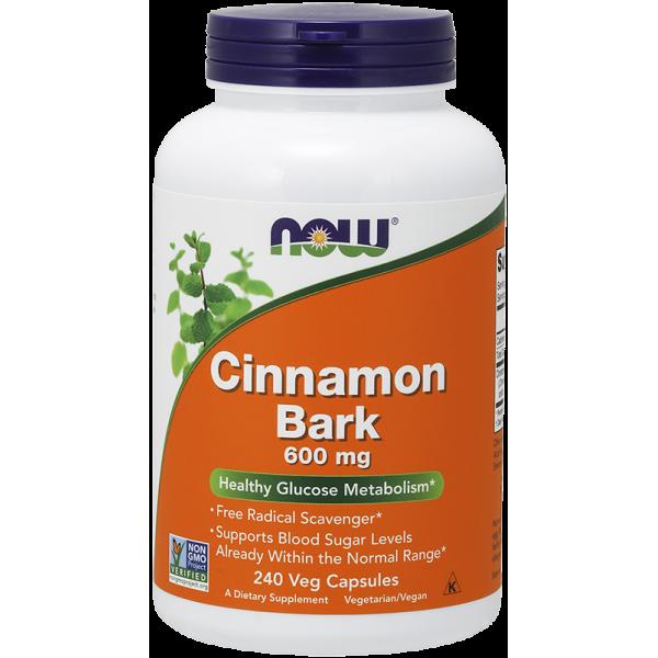 Now Foods Cinnamon Bark 600mg 240 Capsules