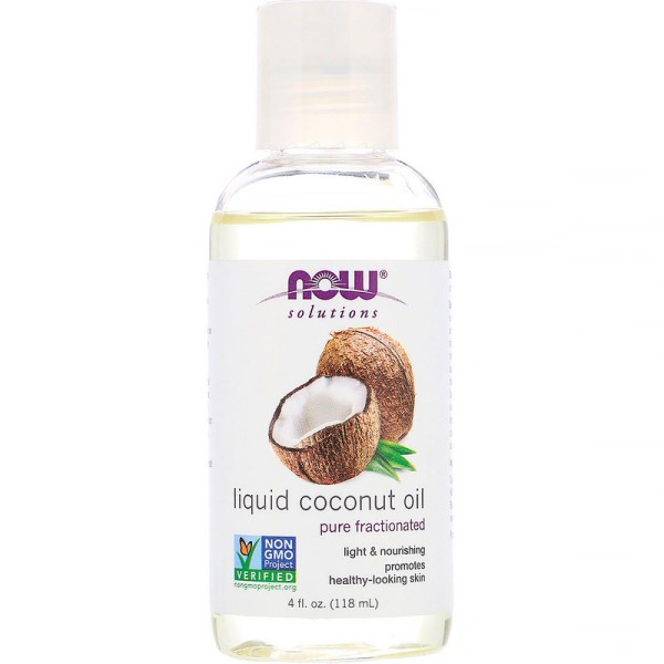 Now Foods Coconut Oil Liquid Pure Fractionated 118ml