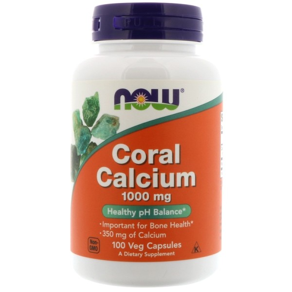 Now Foods Coral Calcium 1000mg 100 Capsules