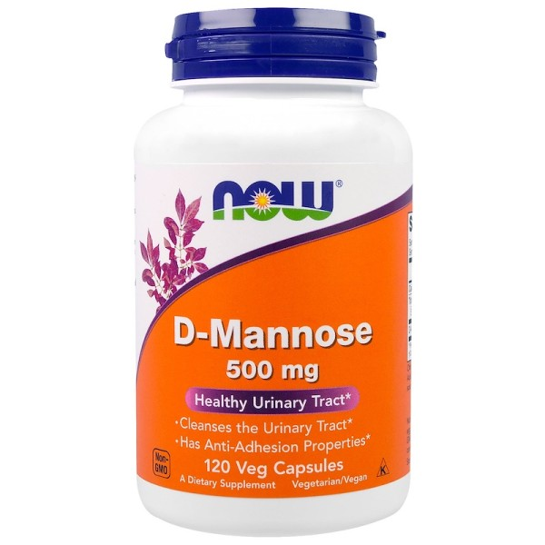 Now Foods D-Mannose Urinary Tract Support 120 Capsules