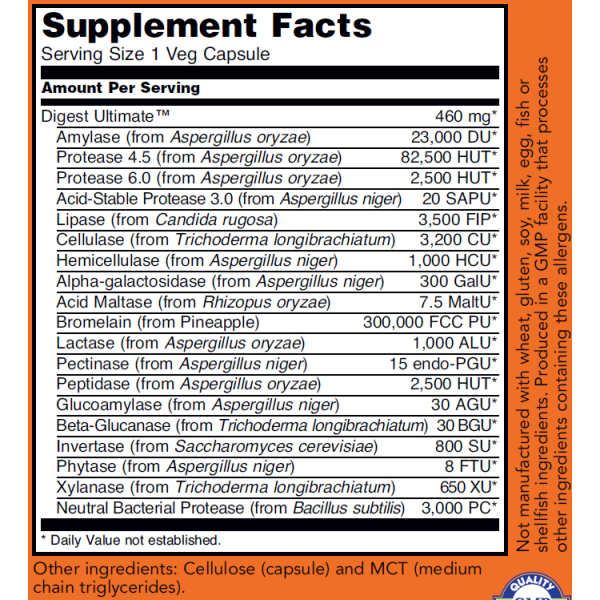 Now Foods Digest Ultimate Digestion Health 60 Capsules