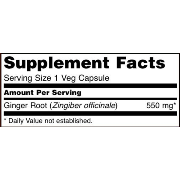 Now Foods Ginger Root 550mg 100 Capsules