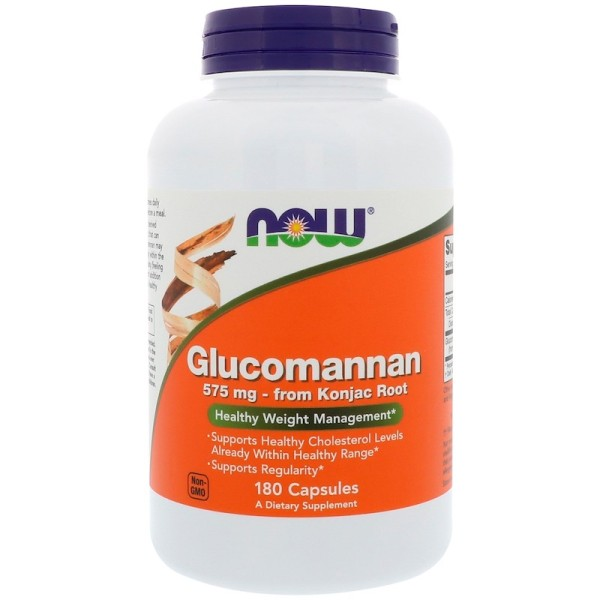Now Foods Glucomannan 575mg 180 Capsules