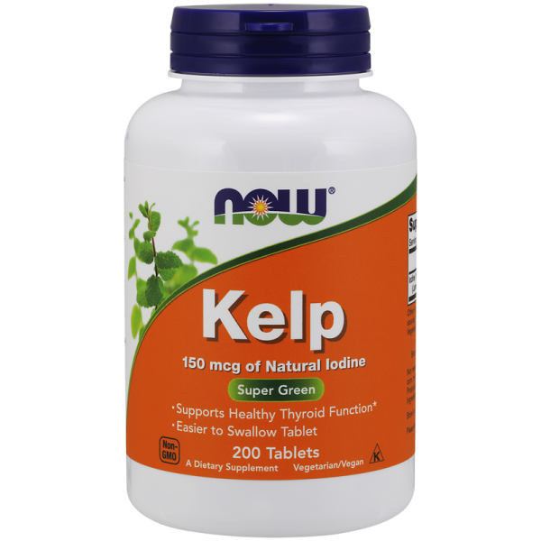 Now Foods Kelp Natural Iodine 150mcg 200 Tablets