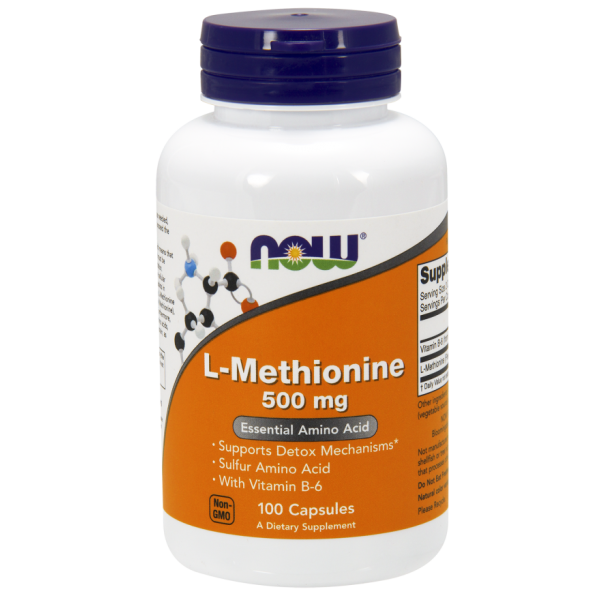 Now Foods L-Methionine 500mg 100 Capsules