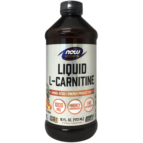 Now Foods Liquid L-Carnitine Tropical Punch 1000mg 473ml