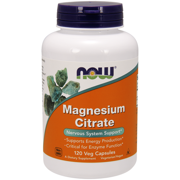 Now Foods Magnesium Citrate 120 Capsules