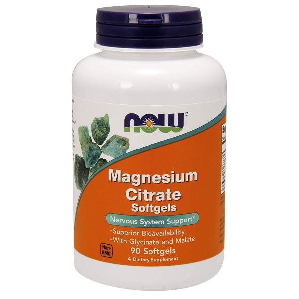 Now Foods Magnesium Citrate 90 Softgels